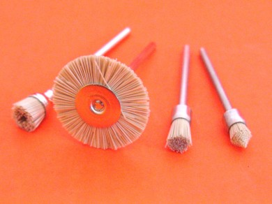 4pc mini rotary filament silicon carbide polishing brushes 2.35mm shank